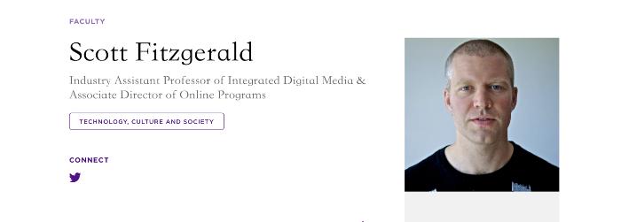 紐約大學IDM (Integrated Digital Media)的教授
