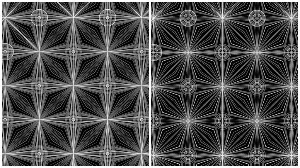 《互動藝術程式創作入門》學生作品 Ching-Wen Hsu的〈窗花〉