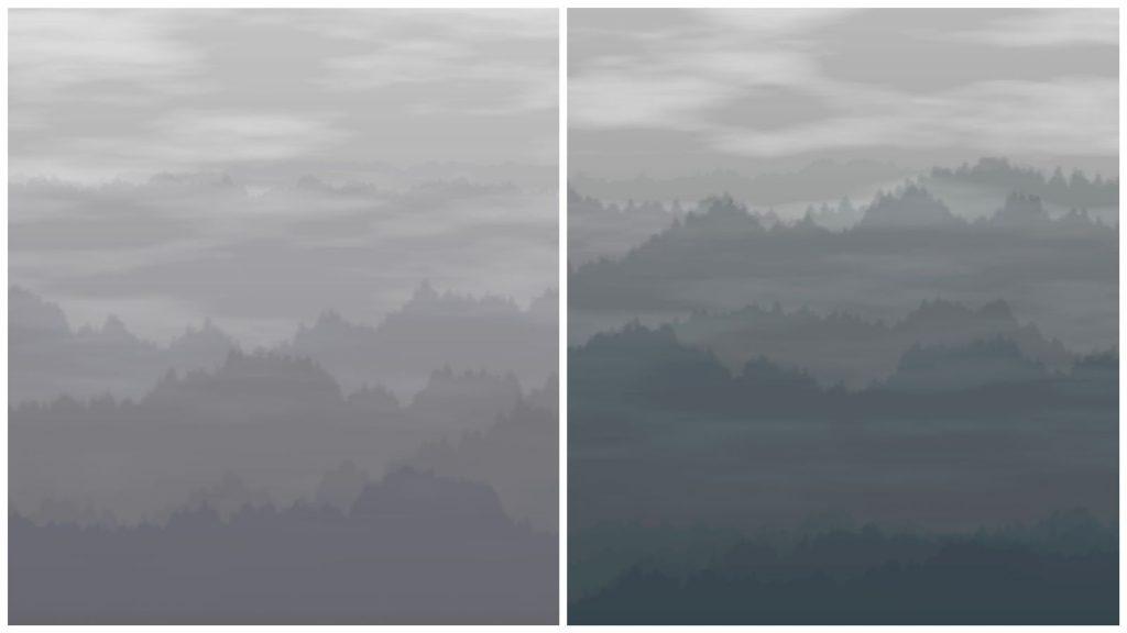 《互動藝術程式創作入門》學生作品 Loxi的〈Ink Mountains〉
