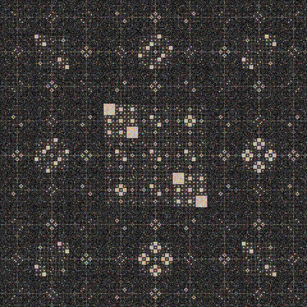 《互動藝術程式創作入門》學生作品 Loxi的〈Sierpinski pattern〉