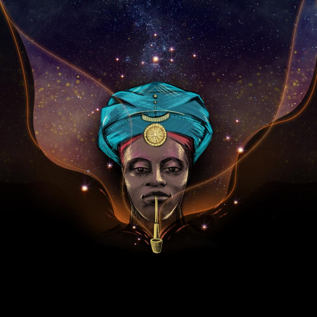 光雕投影作品Chosi Chosi ©Xabiso Vili, Inka Kendzia, Elise Wessels, Jason Stapleton, art by Faith XLVII, music by Yoyouno