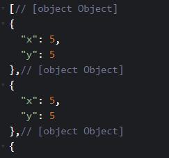若建立十個物件,物件中 key 為 X、Y (圖B)